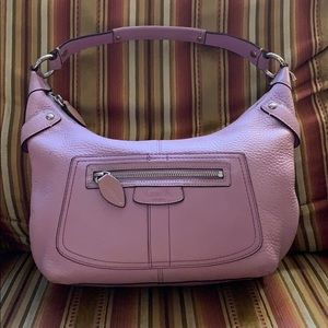 Beautiful Coach Penalope Pebble Leather Purple!